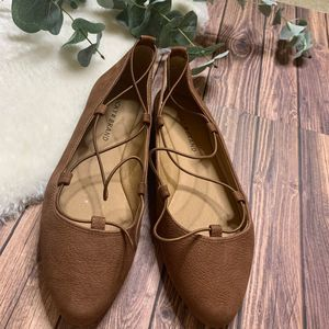 Lucky Brand Aivee Brown suede flats sz 7.5  Shoes